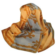 Vintage Vera Oblong Scarf Brown, Gray, Gold Abstract
