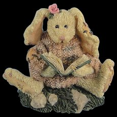 Boyds Daphne Reader Hare Bearstone Series Bunny Rabbit - Red Tag Sale Item