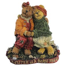 Boyds Bearstone Diane and Joanie Sisters Forever Bears