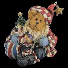 Boyds Nicholas Bearyproud Christmas Bearstone Exclusive Santa
