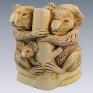 Harmony Kingdom Family Tree Koala Treasure Jest Box Figurine