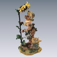 Boyds Bears Folkstone Liddy Pearl Ltd Ed 1998 Garden Sunflower