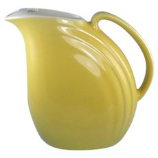 Hall China Pitcher with Ice Lip Nora Yellow