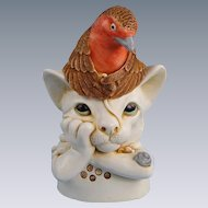 Harmony Kingdom Turdus Felidae Cat Bird Mouse Treasure Jest