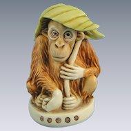 Harmony Kingdom Orangutan Pongo's Palm Treasure Jest