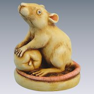 Harmony Kingdom Finky Rat Figurine Netsuke Series