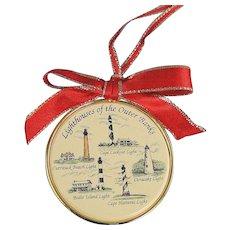 Barlow Ornament Lighthouses North Carolina Vintage Brass