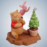 Pooh & Friends Porcelain Christmas Figurine Limited Edition Winnie Pooh