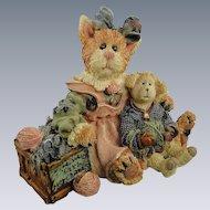 Boyds Purrstone Clawdette Fuzzface Cat Series