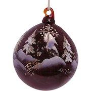 Fenton Star Bright Ruby Ornament Blown Glass Limited Edition
