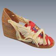 Miniature Espadrille Shoe Just the Right Shoe Beverly Feldman