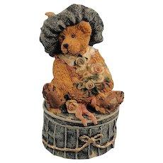 Boyds Bears Bearstone Victoria The Lady Trinket Box Vintage