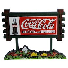 Shelia's Coca-Cola Sign Wood Miniature Vintage