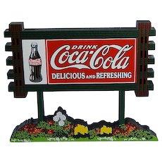 Shelia's Coca-Cola Sign Wood Miniature Vintage