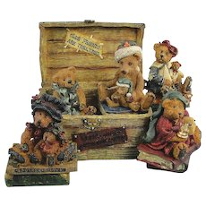 Boyds Bearstone Bailey's Old Trunk Anniversary Edition