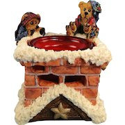 Boyds Elgin and Elliot Elves Votive Holder Bearstone 1E