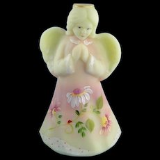 Fenton Glass Burmese Praying Angel Daisies Limited Edition