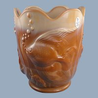 Fenton Art Glass Chocolate Atlantis Vase 100th Anniversary