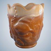 Fenton Art Glass Chocolate Atlantis Vase 100th Anniversary