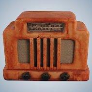 Vintage Radio Figurine Collectors Paperweight