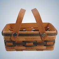 Miniature Woven Handled Market Basket Ohio Vintage