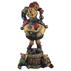 Boyds Carvers Choice Jester Laugh Often Friendship Folk Art Bear