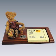 Teddy Bear Wood Note Holder Rare Special Production