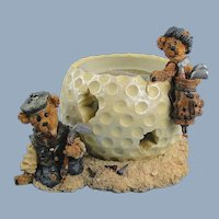 Boyds Bears Golf Votive Holder Sebastian and Nicholas The Lost Ball