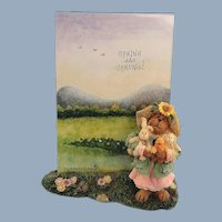 Boyds Bears Frame Miss Hattie Springtime Friends 1E Bearstone