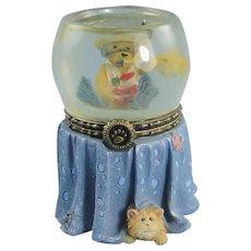 Boyds Goldie's Fish Bowl Trinket Box Uncle Bean's Treasure Boxes