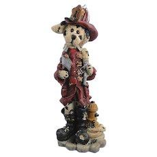 Boyds Folkstone Sparky McPlug Fireman Dog Dalmatian