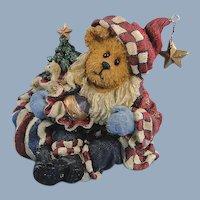 Boyds Bears Nicholas Bearyproud Santa Bearstone Christmas