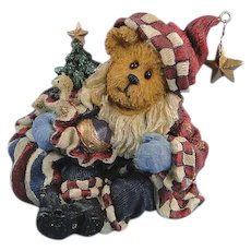 Boyds Nicholas Bearyproud Santa Bearstone Exclusive Christmas