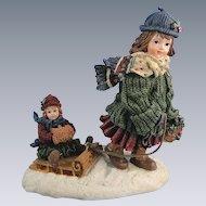 Boyds Dollstone Courtney Over the River 1E Figurine