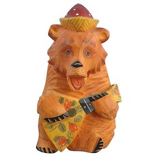 DeBrekht Russian Bear with Balalaika Fairytale Village