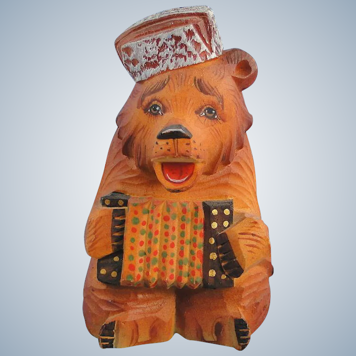 DeBrekht Russian Bear with Accordion Fairytale Village