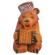 DeBrekht Russian Bear with Accordion Fairytale Village