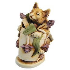 Harmony Kingdom Algenon Cat Treasure Jest Box Figurine First Version