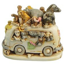 Harmony Kingdom Ed's Safari II Treasure Jest Box Figurine
