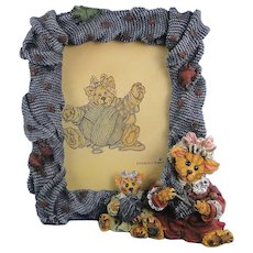 Boyds Frame Darby Jasper Knittin' Kittens 1E Cats Folkstone