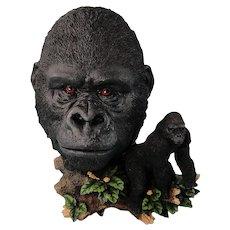 Gorilla Sculpture Figure Vintage African Wildlife