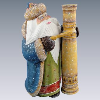 DeBrekht Masterpiece Santa Carved Wood Russian Limited Edition