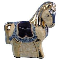 Artesania Rinconada Collectors Club Horse and Medallion Signed DeRosa
