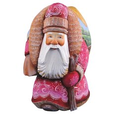 DeBrekht Masterpiece Santa Carved Wood Russian Nativity Scene