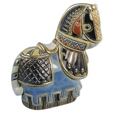 Artesania Rinconada Medieval Tournament Horse and Medallion Rosemont Expo