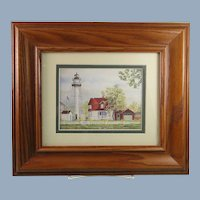 Framed Print Lighthouse Coney Island New York Artist Signed
