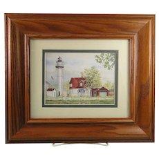 Framed Print Lighthouse Coney Island New York Artist Signed