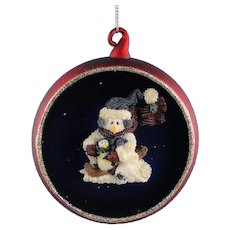 Mercury Glass Ornament Nanuck Winter Wonderland Vintage Boyds