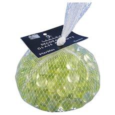Fenton Vaseline Glass Accents Gems Topaz Yellow