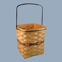 Large Woven Utility Basket with Iron Handle by American Traditions